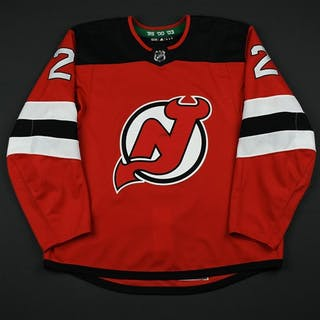 Moore, John Red Set 3 / Playoffs New Jersey Devils 2017-18 #2 Size: 56