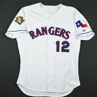 Ledee, Ricky * White w/Flag Texas Rangers 2001 #12 Size: