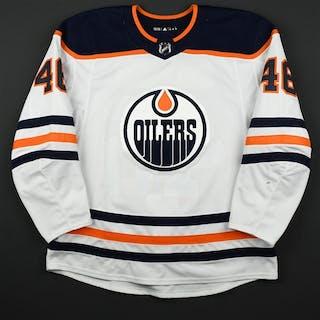 Aberg, Pontus White Set 3 Edmonton Oilers 2017-18 #46 Size: 56