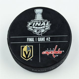 Vegas Golden Knights Warmup Puck 2018 Stanley Cup Final, Game 2 -