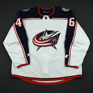 Kukan, Dean White Set 3 - Game-Issued (GI) Columbus Blue Jackets 2017-18