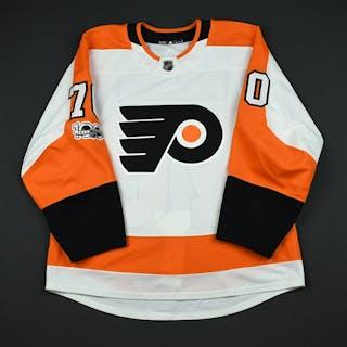 Martel, Danick White Set 1 w/ NHL Centennial Patch - NHL Debut Philadelphia