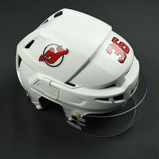 Lappin, Nick White, CCM Helmet w/ Bauer Shield New Jersey Devils 2017-18
