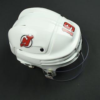 Zajac, Travis White, Bauer Helmet w/ Oakley Shield New Jersey Devils