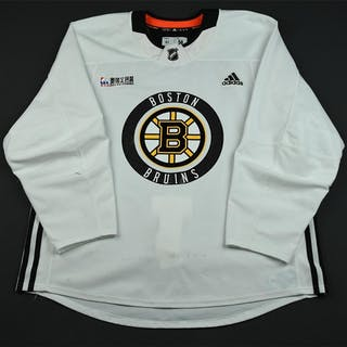 Nash, Rick White Practice Jersey w/ O.R.G. Packaging Patch Boston