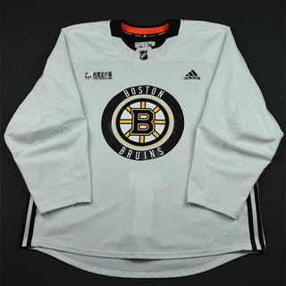 Wingels, Tommy White Practice Jersey w/ O.R.G. Packaging Patch Boston