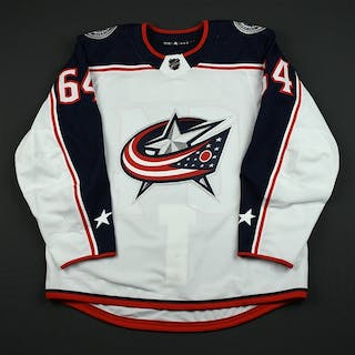 Motte, Tyler White Set 3 - Game-Issued (GI) Columbus Blue Jackets