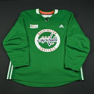 adidas Green Practice Jersey w/ MedStar Health Patch Washington Capitals