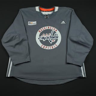 adidas Gray Practice Jersey w/ MedStar Health Patch Washington Capitals