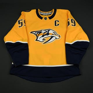 Josi, Roman Gold Set 3 / Playoffs w/C Nashville Predators 2017-18 #59 Size: 56