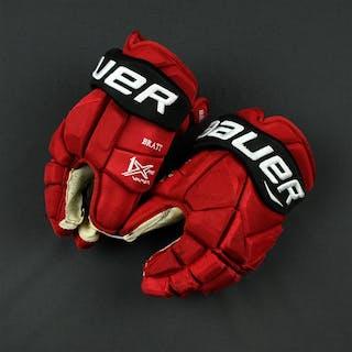 "Bratt, Jesper Bauer Vapor 1X Gloves New Jersey Devils 2017-18 Size: 13"""