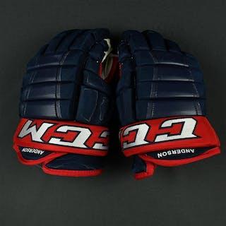 "Anderson, Josh CCM HG 97XP Gloves Columbus Blue Jackets 2017-18 #77 Size: 14"""