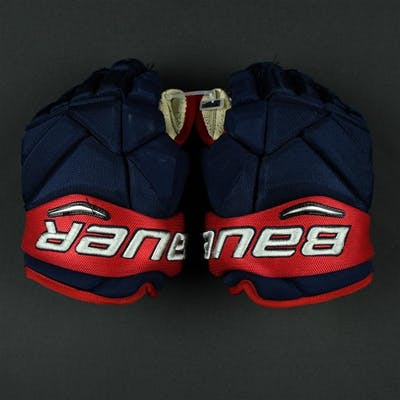 Foligno, Nick Bauer Vapor 1X Gloves Columbus Blue Jackets 2017-18 #71 Size: 13""