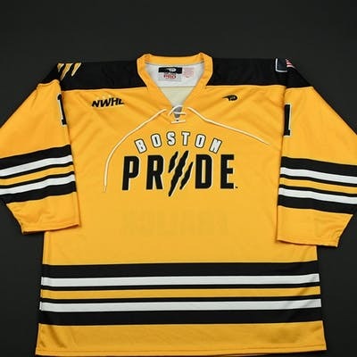 Fralick, Kelsie Yellow Boston Pride 2015-16 #1 Size: 2XL