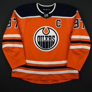 McDavid, Connor Orange Set 3A w/C Edmonton Oilers 2017-18 #97 Size: 56