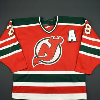 Norwood, Lee * Red w/A - Preseason New Jersey Devils 1991-92 #28 Size: 54