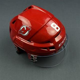 Bennett, Beau Red, CCM Helmet w/ Bauer Shield & NHL Centennial Sticker