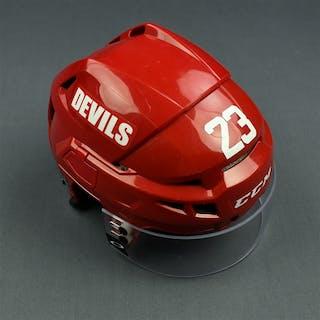 Farnham, Bobby Red, CCM Helmet w/ Oakley Shield New Jersey Devils