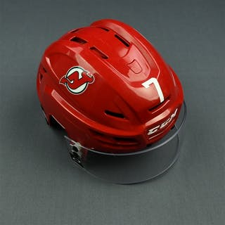 Merrill, Jon Red, CCM Helmet w/ Oakley Shield & NHL Centennial Sticker
