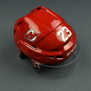 Noesen, Stefan Red, CCM Helmet w/ Oakley Shield & NHL Centennial Sticker
