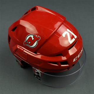 Palmieri, Kyle Red, CCM Helmet w/ Oakley Shield & NHL Centennial Sticker