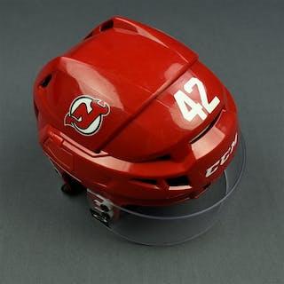 Quenneville, John Red, CCM Helmet w/ Oakley Shield & NHL Centennial