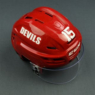 Ruutu, Tuomo Red, CCM Helmet w/ Oakley Shield New Jersey Devils 2015-16