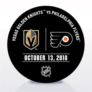 Philadelphia Flyers Warmup Puck October 13, 2018 vs. Vegas Golden