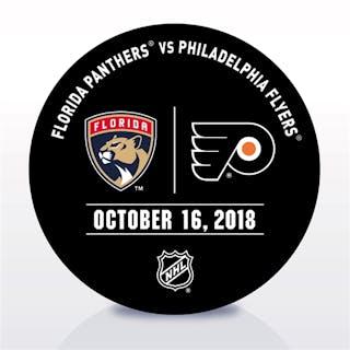 Philadelphia Flyers Warmup Puck October 16, 2018 vs. Florida Panthers
