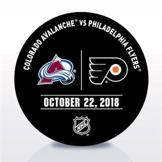 Philadelphia Flyers Warmup Puck October 22, 2018 vs. Colorado Avalanche