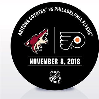 Philadelphia Flyers Warmup Puck November 8, 2018 vs. Arizona Coyotes