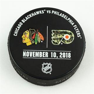 Philadelphia Flyers Warmup Puck November 10, 2018 vs. Chicago Blackhawks