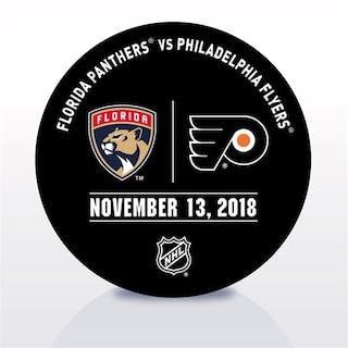 Philadelphia Flyers Warmup Puck November 13, 2018 vs. Florida Panthers