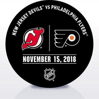Philadelphia Flyers Warmup Puck November 15, 2018 vs. New Jersey Devils