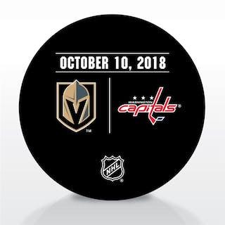 Washington Capitals Warmup Puck October 10, 2018 vs. Vegas Golden