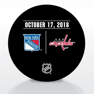 Washington Capitals Warmup Puck October 17, 2018 vs. New York Rangers