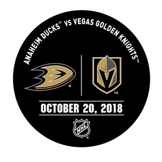 Vegas Golden Knights Warmup Puck October 20, 2018 vs. Anaheim Ducks 2018-19