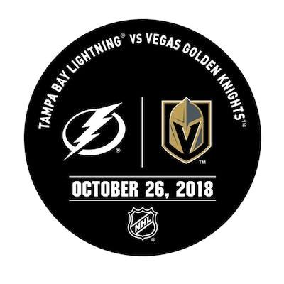 Vegas Golden Knights Warmup Puck October 26, 2018 vs. Tampa Bay Lightning