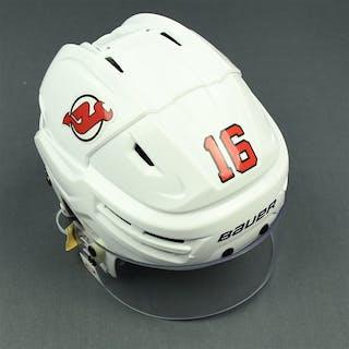 Santini, Steven White, Bauer Helmet w/ Bauer Shield New Jersey Devils