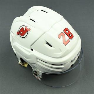 Severson, Damon White, Bauer Helmet w/ Bauer Shield New Jersey Devils
