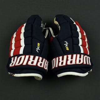 Russo, Rebecca Warrior 2 XV Gloves Worn Throughout 2016-17 NWHL Season