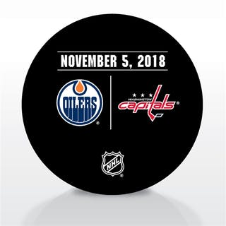 Washington Capitals Warmup Puck November 5, 2018 vs. Edmonton Oilers