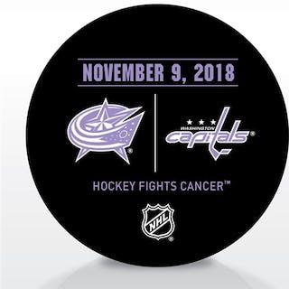 Washington Capitals Warmup Puck November 9, 2018 vs. Columbus Blue