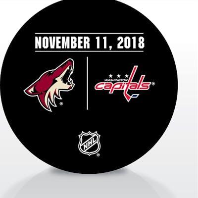 Washington Capitals Warmup Puck November 11, 2018 vs. Arizona Coyotes