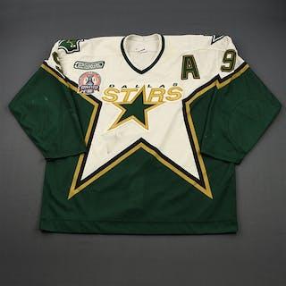 Modano, Mike * White w/Stanley Cup Final Patch, Set 3 w/A Dallas Stars