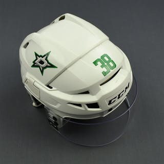 Korpikoski, Lauri White, CCM Helmet w/ Oakley Shield Dallas Stars