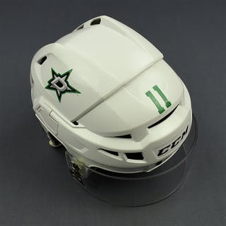 McKenzie, Curtis White, CCM Helmet w/ Oakley Shield Dallas Stars 2016-17