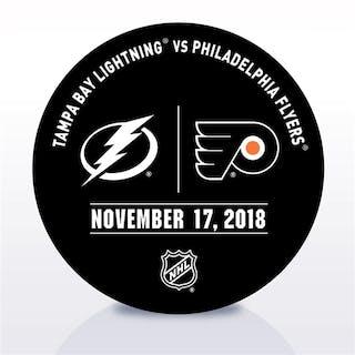 Philadelphia Flyers Warmup Puck November 17, 2018 vs. Tampa Bay Lightning