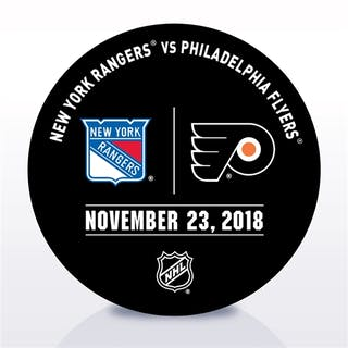 Philadelphia Flyers Warmup Puck November 23, 2018 vs. New York Rangers