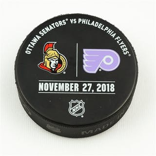 Philadelphia Flyers Warmup Puck November 27, 2018 vs. Ottawa Senators
